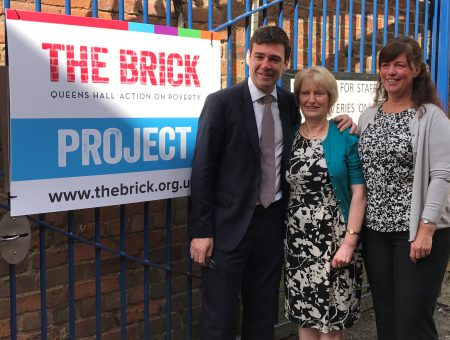 GM Mayor Andy Burnham visits The Brick to officially open homelessness fund
