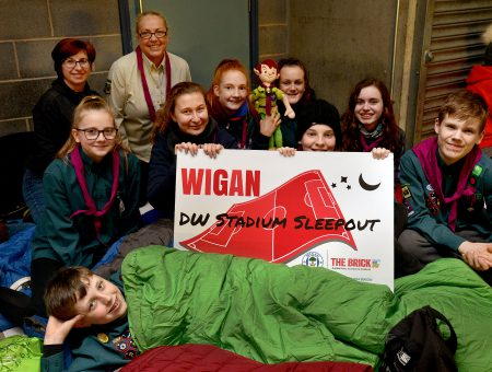 More than 100 people support The Brick Stadium SleepOut