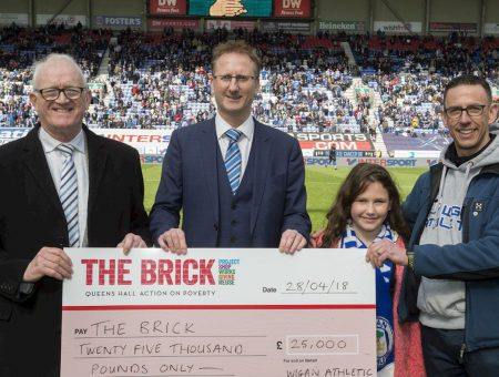 Latics charity partnership raises more than £25,000 for Wigan homeless charity