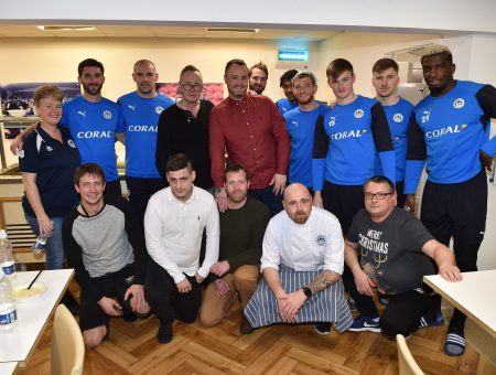 Latics Stars enjoy a festive lunch with The Brick