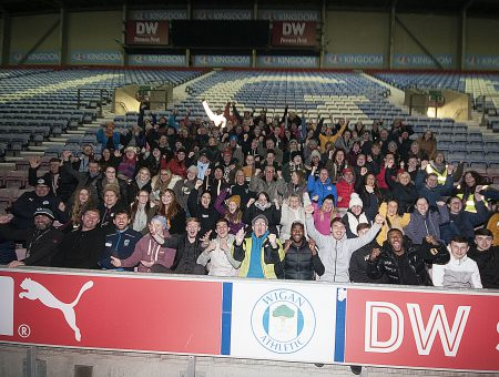 £8,000 raised for The Brick at the Big DW Stadium Sleep!